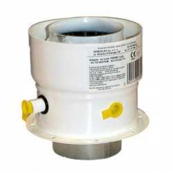 Adapter spalinowy 80/110-80/125 Termet biały
